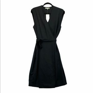 Oak + Fort Dress 1081 Black Wrap Dress